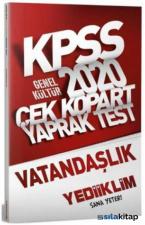 2020 KPSS Genel Kültür Vatandaşlık Çek Kopart Yaprak Test