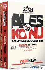 2021 ALES Konu Anlatımlı Modüler Set Tamamı Renkli 3 Cilt Master Serisi Yediiklim Yayınları