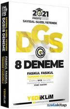 2021 DGS Prestij Serisi Tamamı Çözümlü 8 Fasikül Deneme Yediiklim Yayınları
