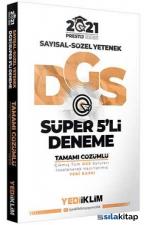2021 DGS Prestij Serisi Tamamı Çözümlü Süper 5 Deneme Yediiklim Yayınları