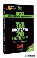 2021 KPSS Coğrafya 100 De 100 Tamamı Çözümlü 20 Deneme Yargı Yayınları