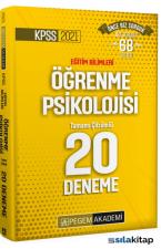 2021 KPSS Eğitim Bilimleri Öğrenme Psikolojisi 20 Deneme Çözümlü Pegem Akademi Yayınları