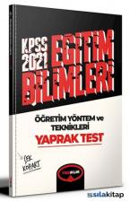 2021 KPSS Eğitim Bilimleri Öğretim Yöntem ve Teknikleri Çek Kopart Yaprak Test Yediiklim Yayınları