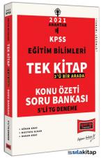 2021 KPSS Eğitim Bilimleri Tek Kitap Konu Özetli Soru Bankası ve Tamamı Çözümlü 5Li Tg Deneme