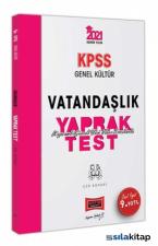 2021 KPSS Genel Kültür Vatandaşlık Çek Kopart Yaprak Test Yargı Yayınları