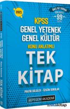2021 KPSS Genel Yetenek Genel Kültür Konu Anlatımlı Tek Kitap Pegem Yayınları