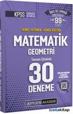 2021 KPSS Genel Yetenek Genel Kültür Matematik-Geometri 30 Deneme Pegem Yayınları