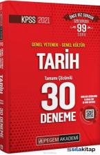 2021 KPSS Genel Yetenek Genel Kültür Tarih 30 Deneme Pegem Yayınları