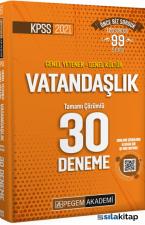2021 KPSS Genel Yetenek Genel Kültür Vatandaşlık 30 Deneme Pegem Yayınları