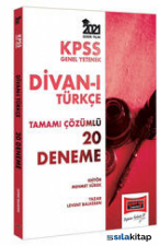 2021 KPSS Gy Divanı Türkçe Tamamı Çözümlü 20 Deneme Yargı Yayınları