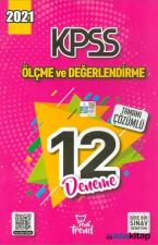 2021 KPSS Ölçme ve Değerlendirme Çözümlü 12 Deneme Yeni Trend Yayınları