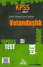 2021 KPSS Vatandaşlık Çek Kopar Yaprak Test Yeni Trend Yayınları