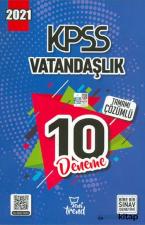 2021 KPSS Vatandaşlık Çözümlü 10 Deneme Yeni Trend Yayınları