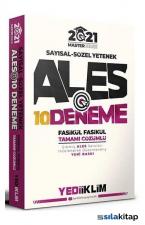 2021 Master Serisi ALES Sayısal-Sözel Yetenek Tamamı Çözümlü 10 Fasikül Deneme Yediiklim Yayınları