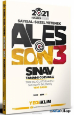 2021 Master Serisi ALES Son 3 Sınav Tamamı Çözümlü Çıkmış Sorular Yediiklim Yayınları