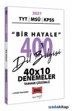 2021 TYT Msü KPSS Bir Hayale 400 Dil Bilgisi 40X10 Tamamı Çözümlü Denemeler Yargı Yayınları