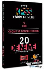 2022 KPSS Eğitim Bilimleri Ölçme Değerlendirme 100 de 100 20 Deneme Çözümlü Yargı Yayınları