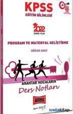 2022 KPSS Eğitim Bilimleri Program ve Materyal Geliştirme Anahtar Hocaların Ders Notları