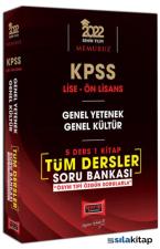 2022 KPSS Lise Ön Lisans Gy Gk 5 Ders 1 Kitap Tüm Dersler Soru Bankası Yargı Yayınları