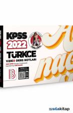 2022 KPSS Türkçe Video Ders Notları Benim Hocam Yayınları