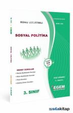 3. Sınıf 5. Yarıyıl Sosyal Politikalar Konu Anlatımlı Soru Bankası