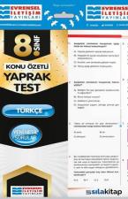 8.Sınıf Türkçe Konu Özetli Yaprak Test