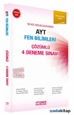 AYT Fen Bilimleri Çözümlü 4 Deneme Sınavı-Orta ve İleri Düzey
