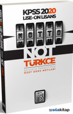 Benim Hocam Yayınları 2020 Lise Önlisans Motto Türkçe Ders Notları