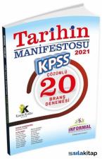 İnformal Yayınları 2021 KPSS Tarihin Manifestosu 20 Deneme Çözümlü