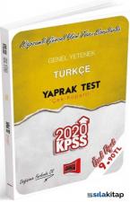 KPSS 2020 Genel Yetenek Türkçe Yaprak Test