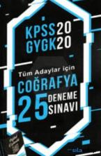 KPSS 2020 GYGK - Tüm Adaylar İçin Coğrafya 25 Deneme Sınavı