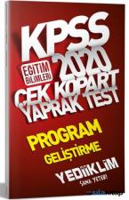 KPSS 2020 Program Geliştirme Yaprak Test