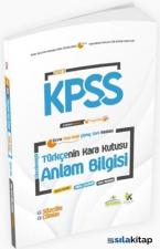2021 KPSS Türkçenin Kara Kutusu Anlam Bilgisi 1.Cilt