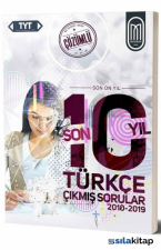 TYT Türkçe Son 10 Yıl Çözümlü Çıkmış Sorular-2010-2019