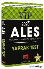 Ales Vip Yaprak Test 2020 Basım Yeni