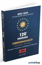 Yargı 2020 KPSS 120 Dakikada Cumhurbaşkanlığı Hükümet Sistemi Tamamı Ayrıntılı Çözümlü Sorular