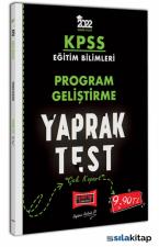 Yargı Yayınları 2022 KPSS Eğitim Bilimleri Program Geliştirme Yaprak Test