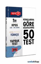Yargı Yayınları 2022 KPSS Lise Ön Lisans Genel Yetenek Türkçe Yaprak Test