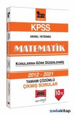 Yargı Yayınları 2022 KPSS Matematik Konularına Göre Düzenlenmiş Tamamı Çözümlü Çıkmış Sorular