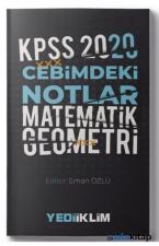 Yediiklim Yayınları 2020 KPSS Cebimdeki Notlar Matematik - Geometri