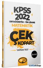 Yediiklim Yayınları 2022 KPSS Ortaöğretim Ön Lisans Genel Yetenek Matematik Çek Kopart Yaprak Test