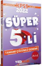 Yediiklim Yayınları 2022 KPSS Ortaöğretim Ön Lisans Gy Gk Tamamı Çözümlü Süper 5′Li Deneme