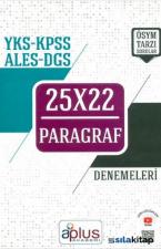 Yks KPSS ALES DGS Paragraf 25X22 Denemeleri